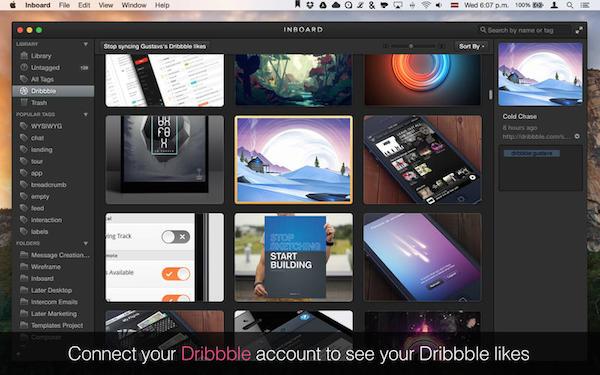 Inboard for Mac 1.0.2 中文破解版 – 集成Dribbble的强大素材管理器-麦氪搜(iMacso.com)