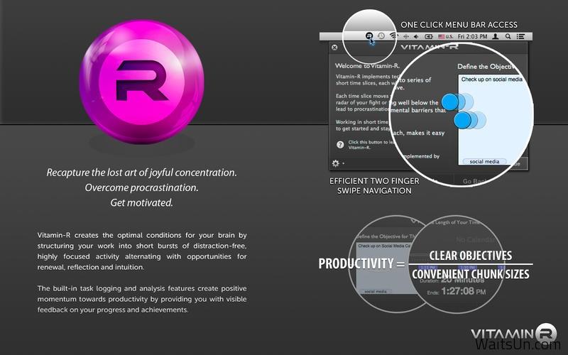 Vitamin-R 2 for Mac 2.23 破解版 – Mac上强大的GTD工作效率提升工具-麦氪搜(iMacso.com)