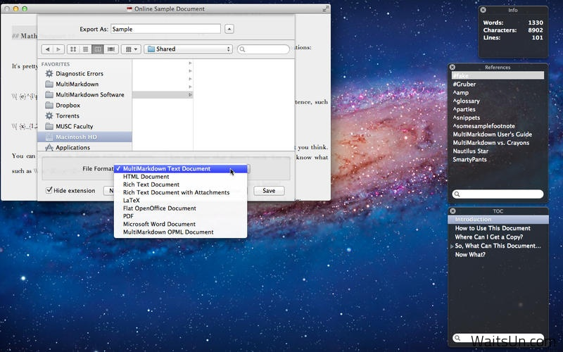 MultiMarkdown Composer 2 for Mac 2.6.9 破解版 – Mac上优秀的文本写作工具