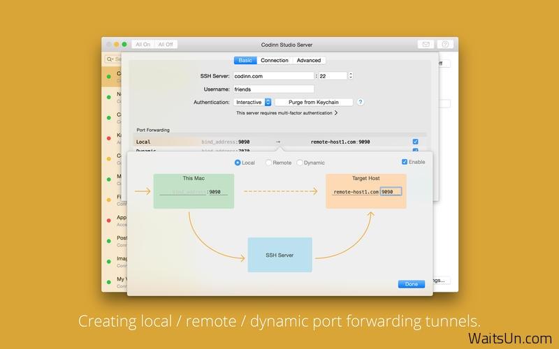 SSH Tunnel for Mac 15.09 破解版 – 优秀的SSH远程通道管理工具-麦氪搜(iMacso.com)