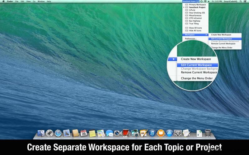 SaneDesk for Mac 2.0 破解版 – 虚拟桌面管理软件