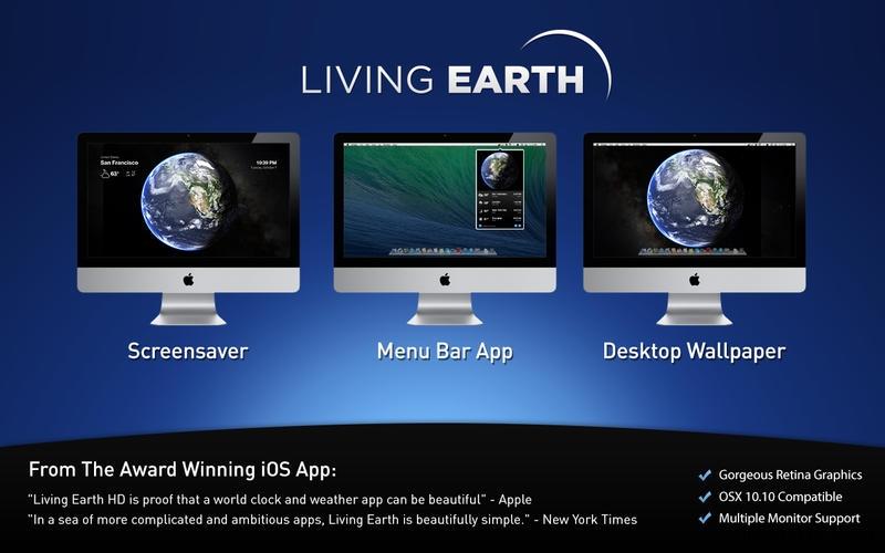 Living Earth for Mac 1.2.1 破解版 – Mac上绚丽的世界时间和天气软件
