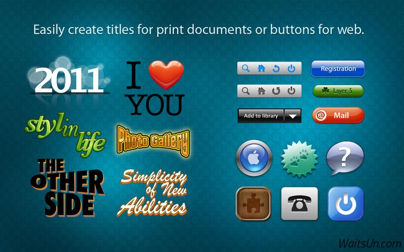 Art Text 2 for Mac 2.5 破解版 – Mac上优秀的艺术文字和图标设计软件-麦氪搜(iMacso.com)