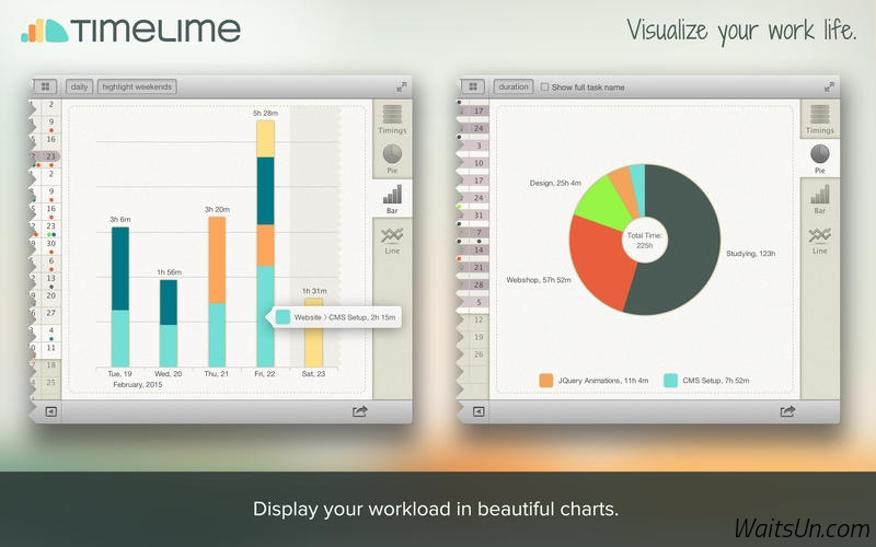 Timelime for Mac 1.4.3 破解版 – Mac上优秀的工作时间跟踪和统计工具-麦氪搜(iMacso.com)