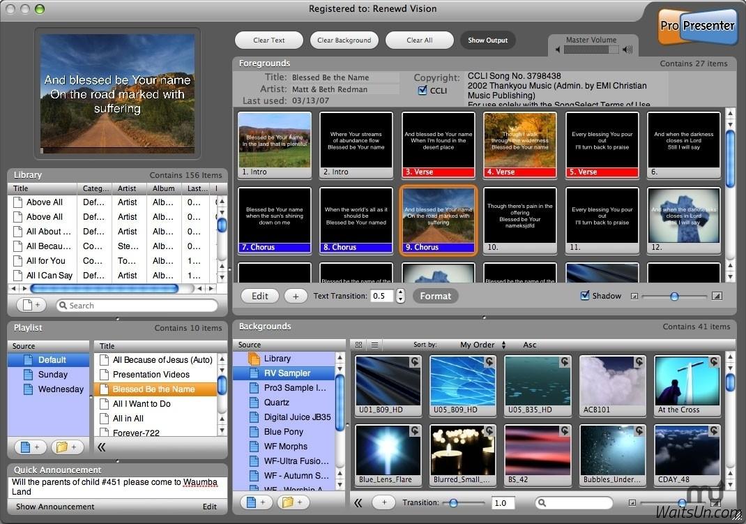 ProPresenter 6 for Mac 6.0.3 破解版 - 优秀的现场双屏演示工具