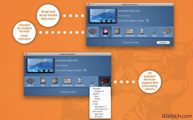 Smart Converter for Mac 2.2.2 破解版 - Mac上快速的视频格式转换软件-麦氪搜(iMacso.com)
