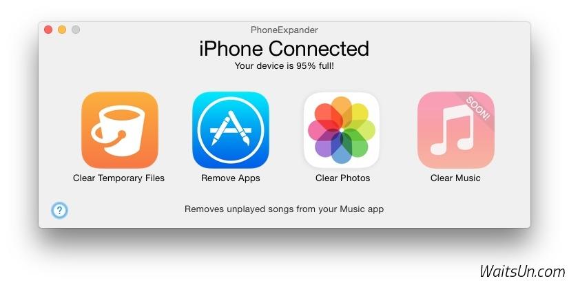 PhoneExpander for Mac 1.0.1 激活版 - iOS 设备清理新选择