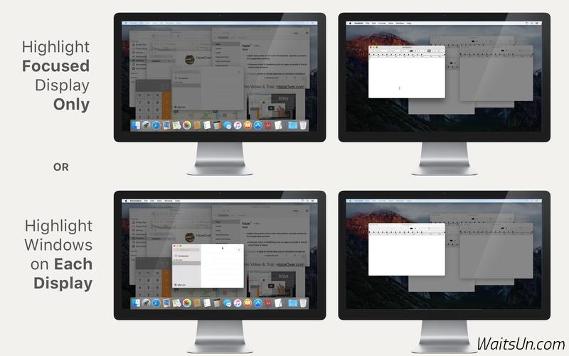 HazeOver for Mac 1.7 破解版 - 实用的多窗口管理工具