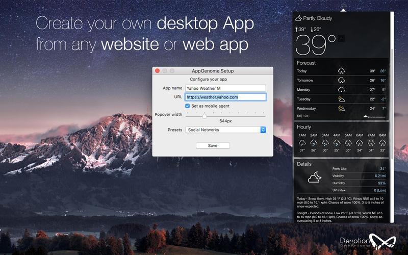 AppGenome for Mac 1.4 激活版 - 创建基于URL的应用
