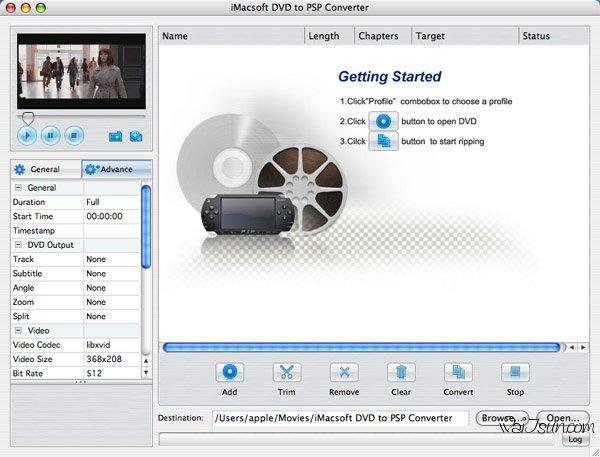 iMacsoft DVD to PSP(高效的PSP视频转换器)