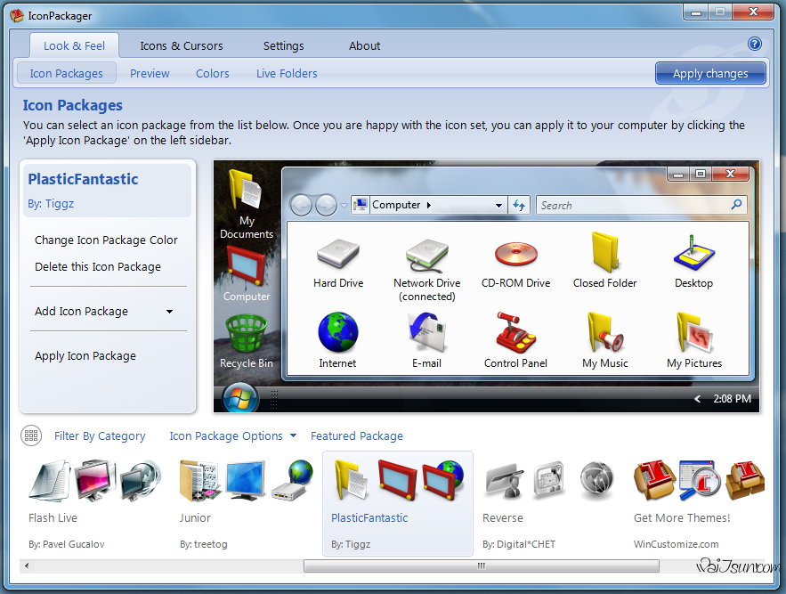 IconPackager(超帅的系统图标替换工具)-麦氪搜(iMacso.com)