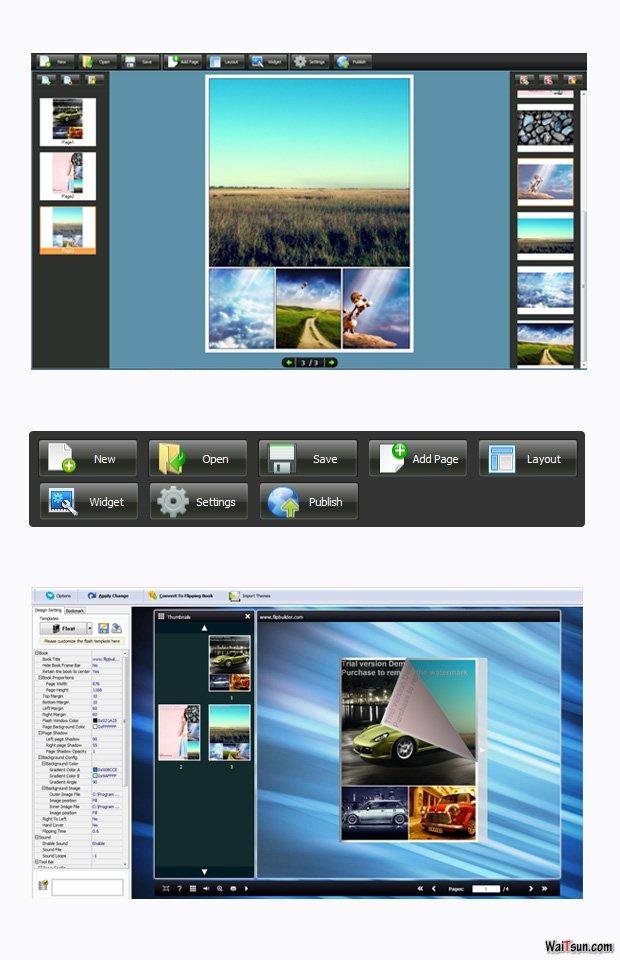 screenshots for Photo to FlipBook maker