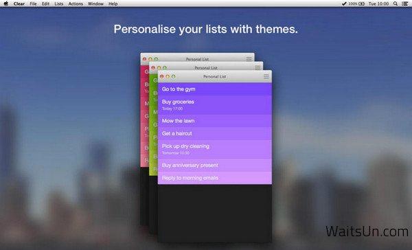 Clear for Mac 1.1.6 破解版 – Mac 上优秀的任务和待办事项清单工具-麦氪搜(iMacso.com)