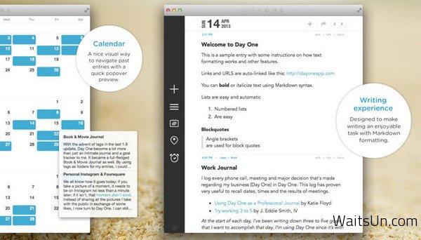 Day One for Mac 1.10 破解版 – Mac上最优秀的日记软件-麦氪搜(iMacso.com)