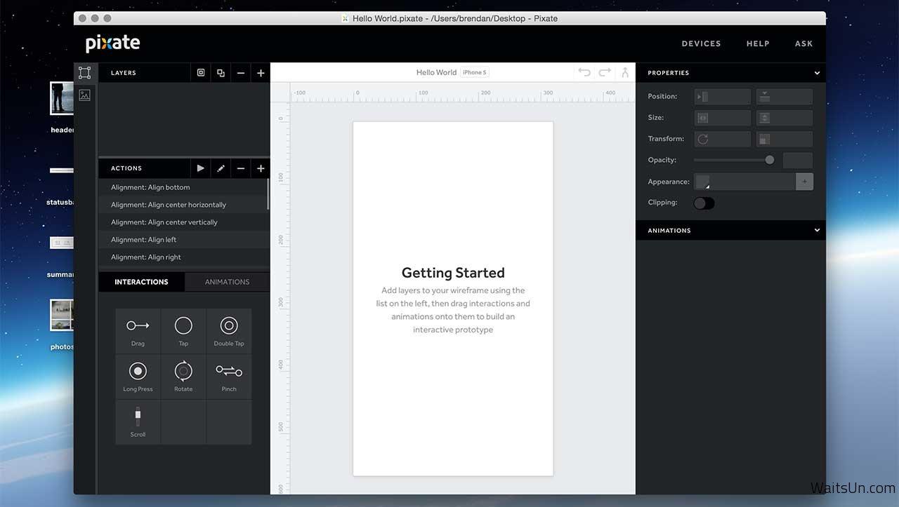 Pixate Studio for Mac 1.0.13 破解版 – Mac上移动原型交互设计工具-麦氪搜(iMacso.com)